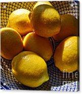 Yellow Mellow  Acrylic Print by Alexandra Jordankova