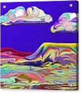 Yellow Mesa Acrylic Print
