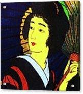 Yellow Moon Geisha Acrylic Print