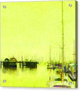 Yellow Mooring Acrylic Print