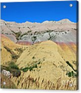 Yellow Mounds Badlands National Park Acrylic Print