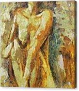 Yellow Nude Acrylic Print