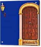 Door And Lamp Acrylic Print