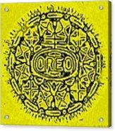 Yellow Oreo Acrylic Print