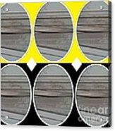 Yellow Oval Acrylic Print