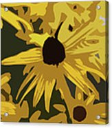 Yellow Paper Flower Acrylic Print