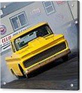 Yellow Pick Up Truck Acrylic Print