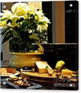 Yellow Poinsettia And Cheeses Acrylic Print