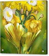 Yellow Poppies In Poppy Vase Acrylic Print