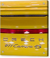 yellow Porsche Acrylic Print