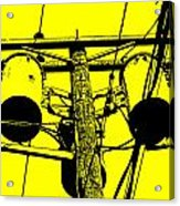 Yellow Power Acrylic Print