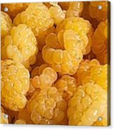 Yellow Raspberry Abstract Acrylic Print