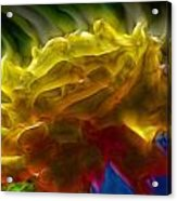 Yellow Rose Series - Colorful Fractal Acrylic Print