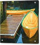 Yellow Rowboats Acrylic Print