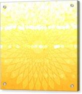 Yellow Spirograph Acrylic Print