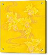 Yellow Stream Acrylic Print
