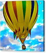 Yellow Striped Hot Air Balloon Acrylic Print