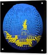 Yellow Submarine 2 Baseball Square Acrylic Print