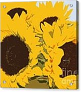 Yellow Sunflowers Acrylic Print