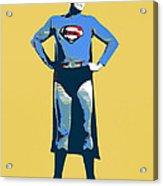 Yellow Superman Acrylic Print