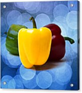 Yellow Sweet Pepper - Square - Textured Acrylic Print