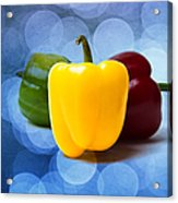 Yellow Sweet Pepper - Textured Acrylic Print
