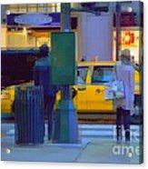 Yellow Taxi Acrylic Print