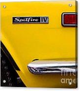 Yellow Triumph Spitfire Acrylic Print
