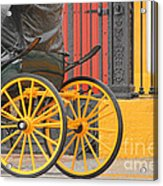 Yellow Wheeled Carriage In Seville Acrylic Print