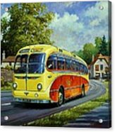Yelloways Seagull Coach. Acrylic Print