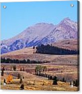 Yellowstone Electric Mountain Acrylic Print