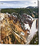 Yellowstone Falls Panorama Acrylic Print