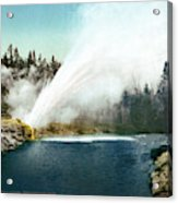 Yellowstone Geyser, C1905 Acrylic Print
