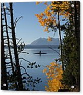 Yellowstone Lake At Dusk Acrylic Print