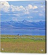 Yellowstone Lake In Yellowstone National Park-wyoming- Acrylic Print
