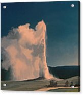 Yellowstone -- Old Faithful Vintage Acrylic Print