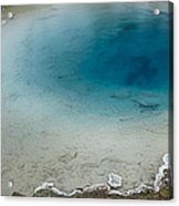 Yellowstone Pool Acrylic Print by David Yack