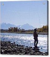 Yellowstone River Fly Fishing Acrylic Print