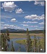 Yellowstone River Through the Hayden Valley Acrylic Print