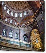 Yeni Valide  Camii Mosque Istanbul Turkey Acrylic Print