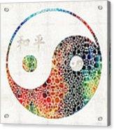 Yin And Yang - Colorful Peace - By Sharon Cummings Acrylic Print