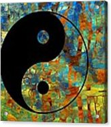 Yin Yang Abstract Acrylic Print