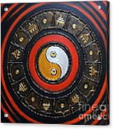 Yin Yang Energy Acrylic Print by Elena  Constantinescu