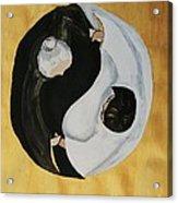 Yin Yang  Generations Hand In Hand Acrylic Print