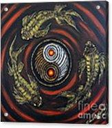 Yin Yang - Koi Fish Acrylic Print