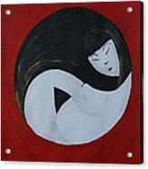 Yin Yang Maternity Acrylic Print