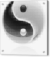 Yin Yang Mosaic Acrylic Print