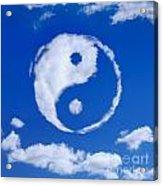 Yin-yang Symbol Made Of Clouds Acrylic Print