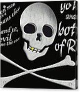 Yo Ho And A Bottle Of Rum Acrylic Print