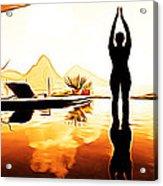 Yoga Life Acrylic Print